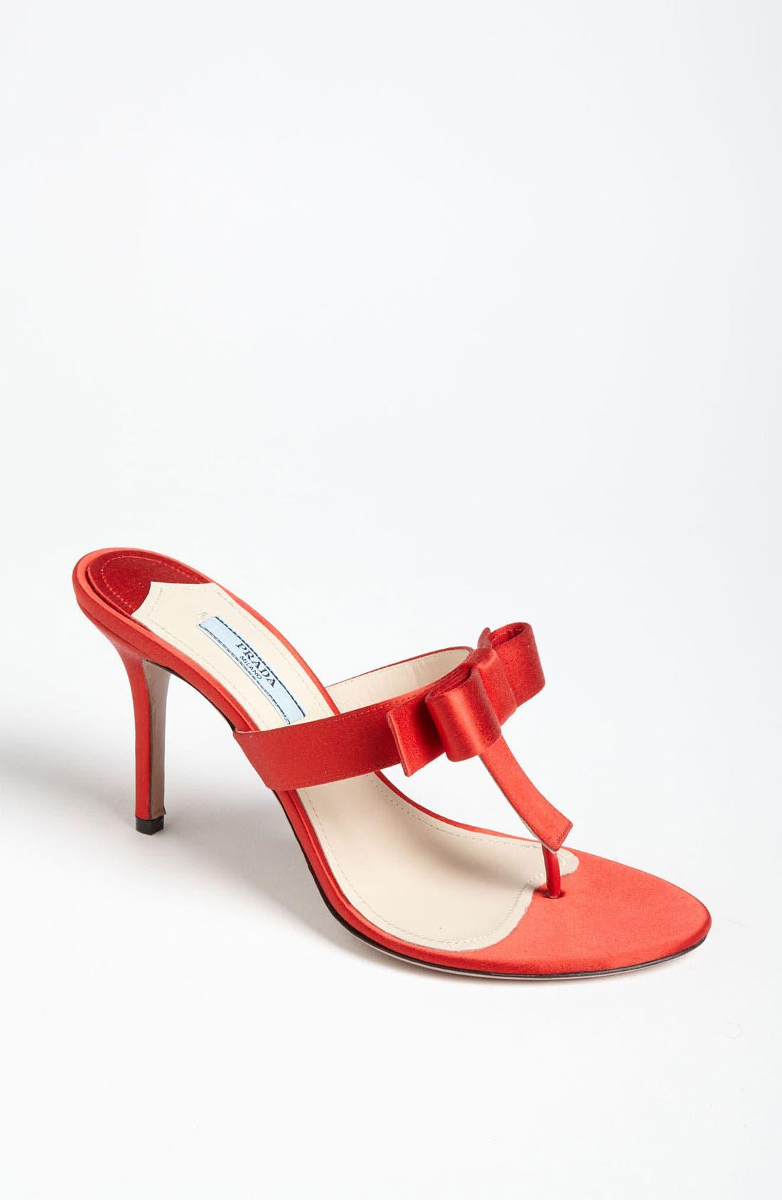 Alternate Image 1 Selected - Prada Bow Thong Sandal