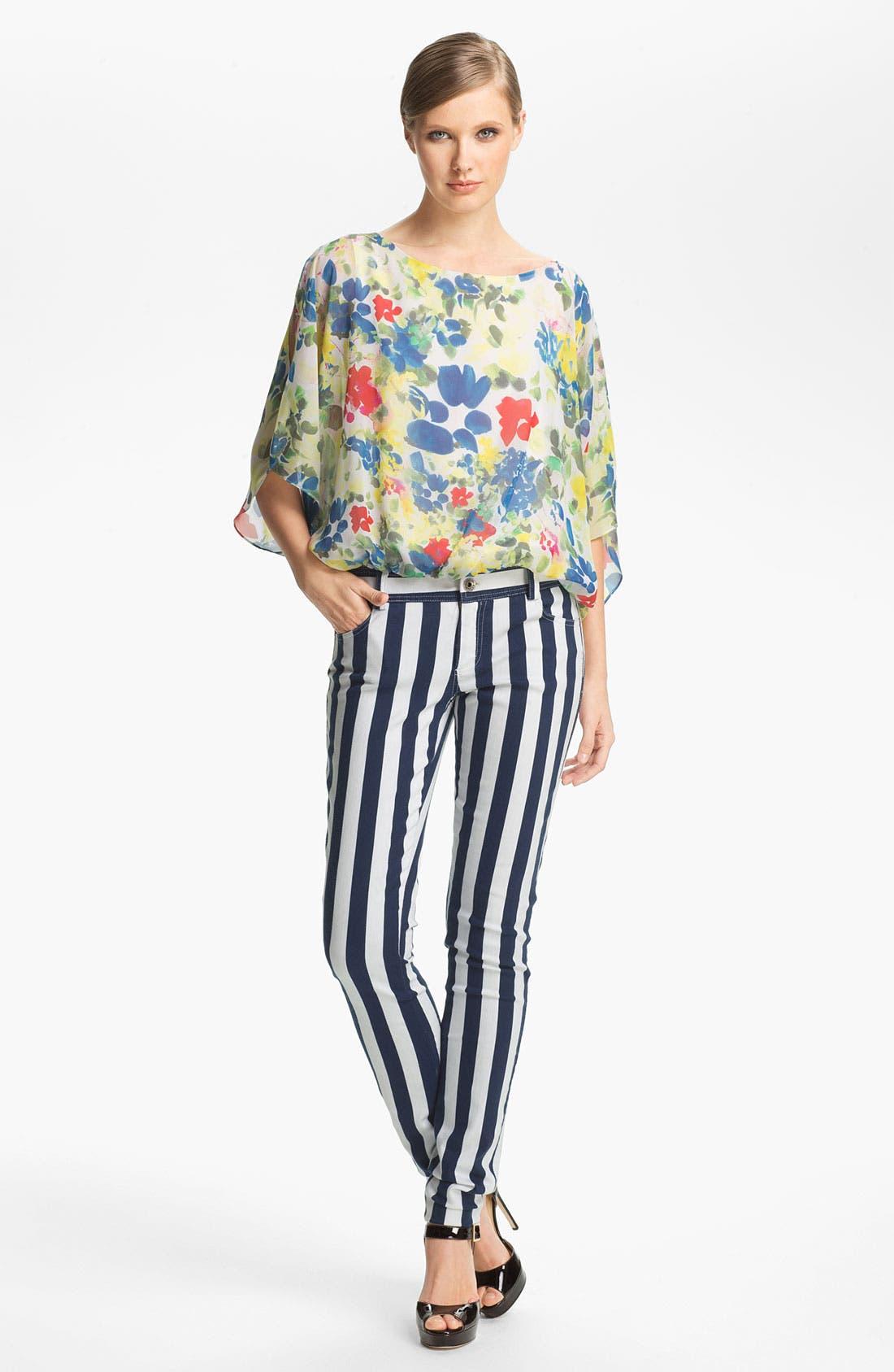 Alternate Image 5  - Alice + Olivia Stripe Skinny Jeans