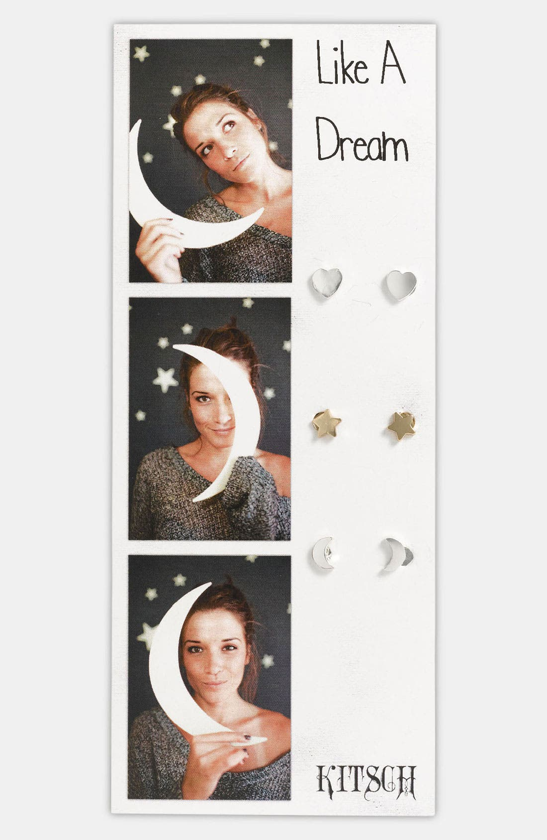 Alternate Image 1 Selected - Kitsch 'Like a Dream' Earrings (Set of 3)