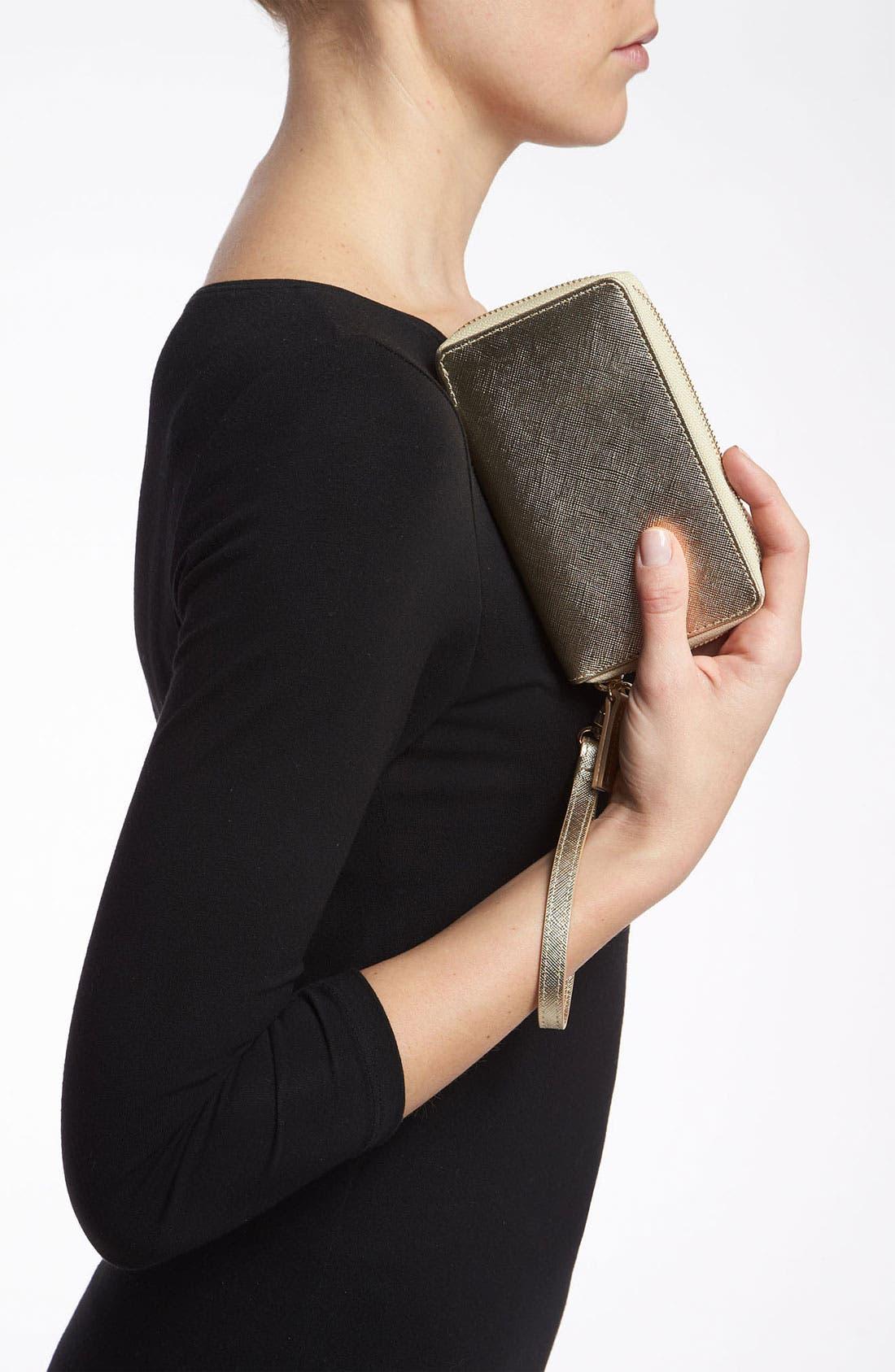 Alternate Image 2  - Halogen® 'Cassie - Small' Leather Wristlet