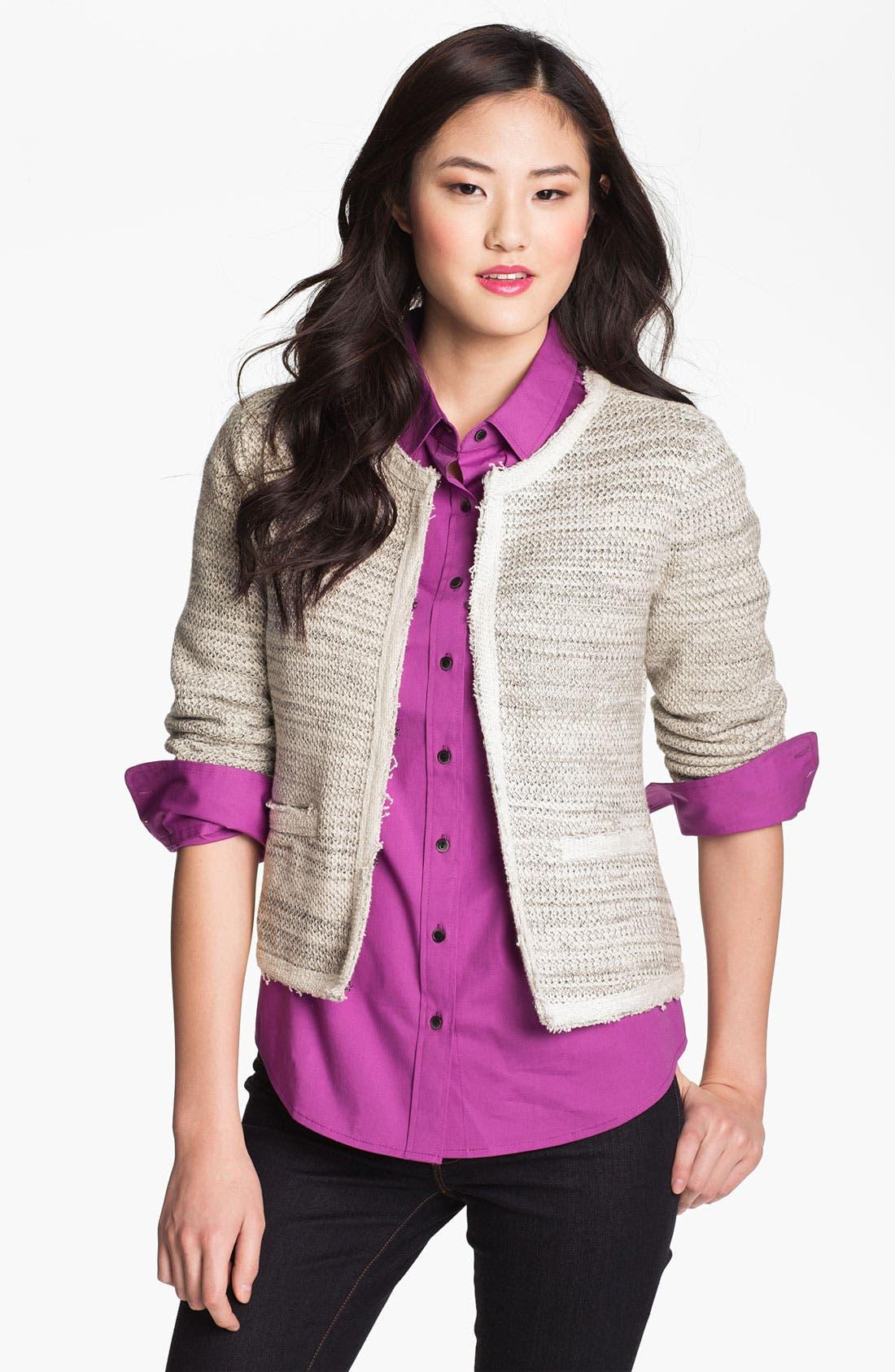 Alternate Image 1 Selected - Halogen® Jacquard Knit Jacket