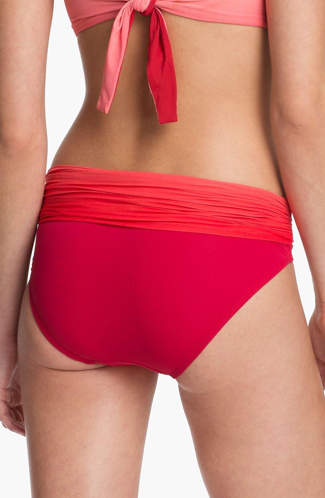 Alternate Image 2  - Carmen Marc Valvo Roll Waist Bikini Bottoms