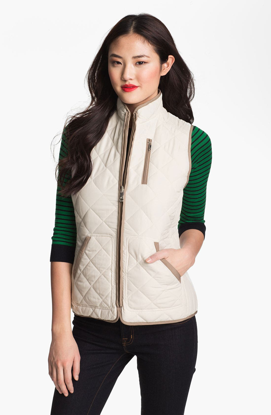 Alternate Image 1 Selected - Weatherproof® Reversible Quilted Vest (Online Only)