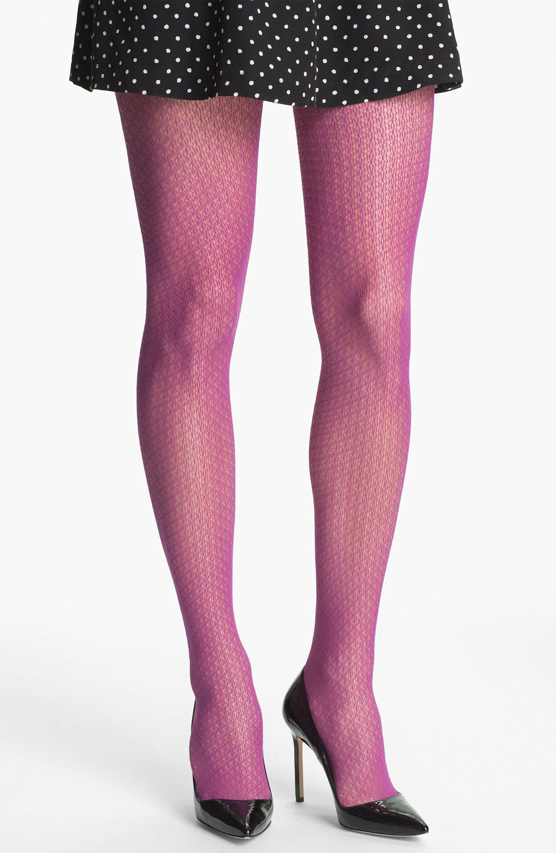 Main Image - Nordstrom Crochet Diamond Tights
