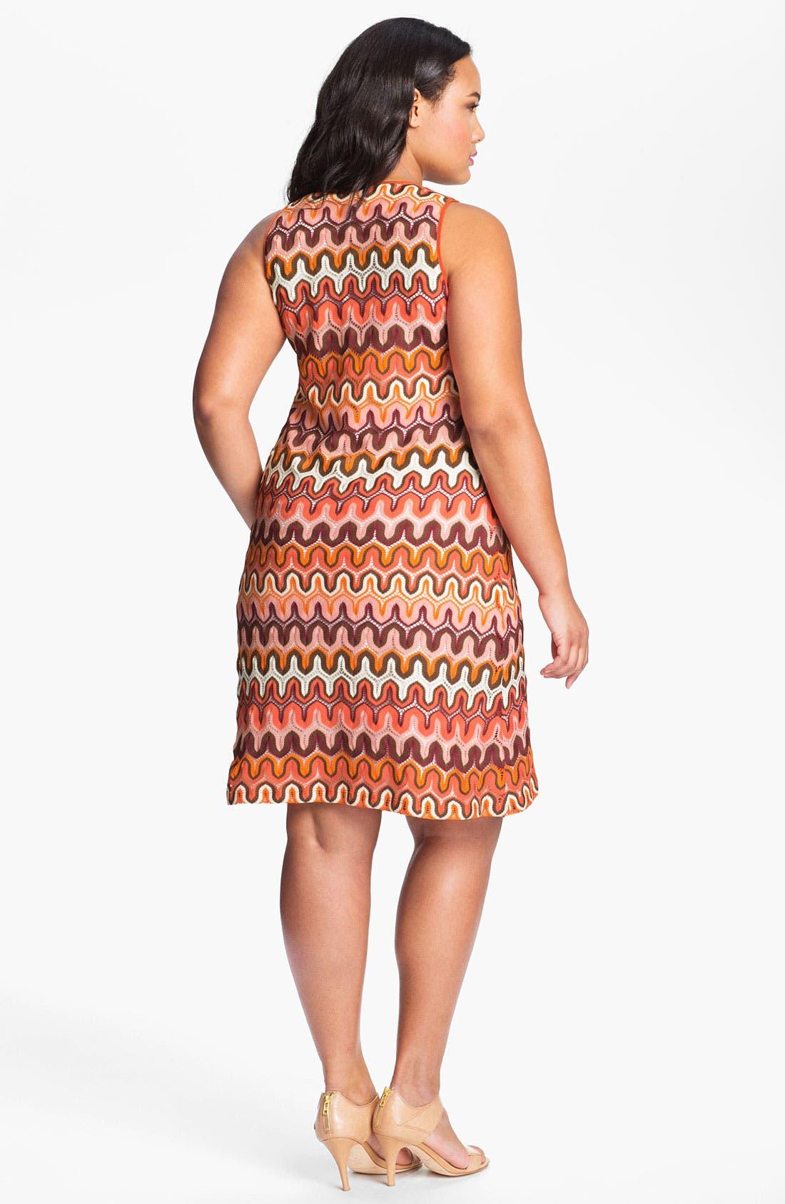 Alternate Image 2  - Karen Kane Crochet Tank Dress (Plus Size) (Online Only)