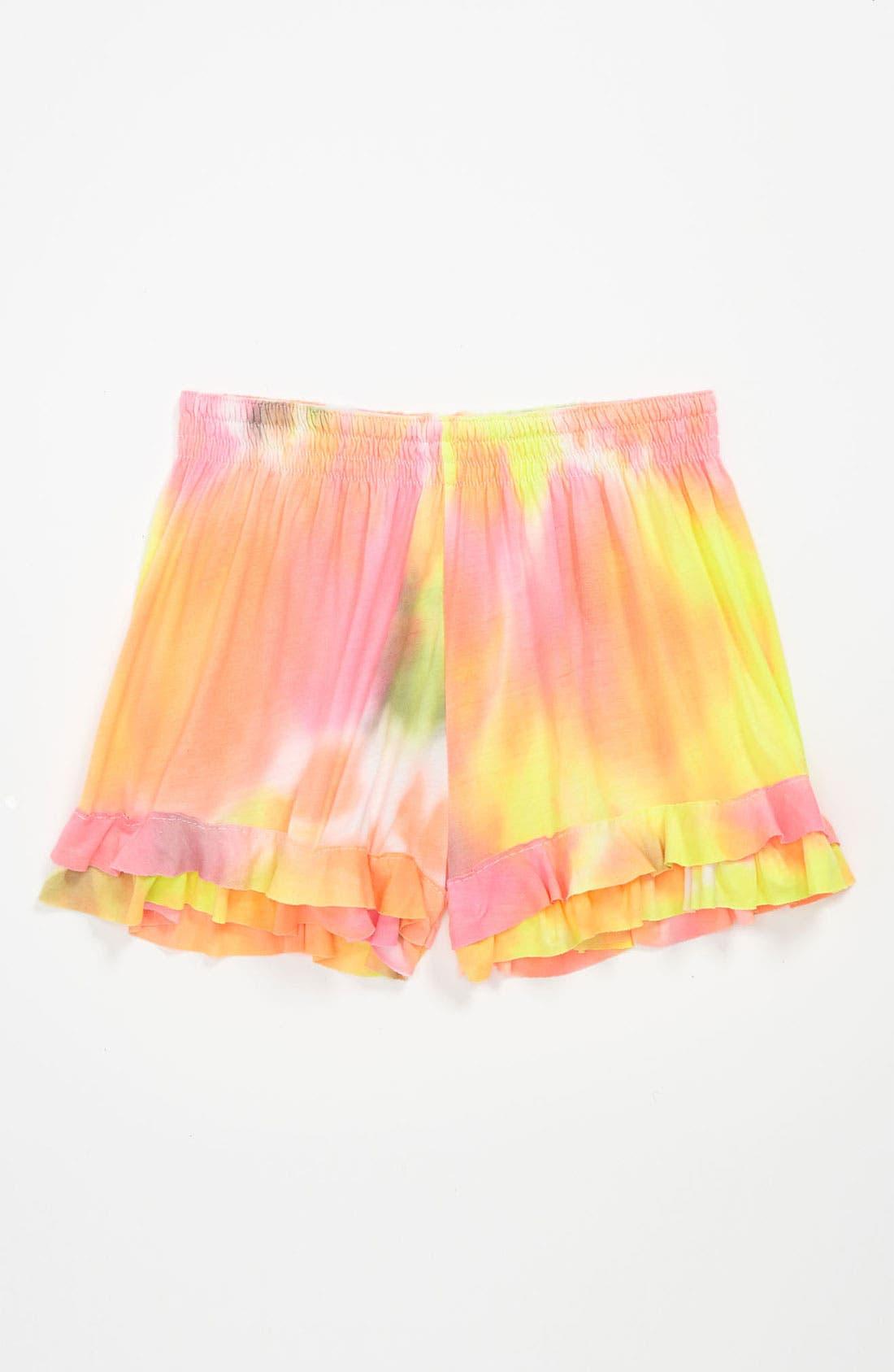 Main Image - Flowers by Zoe Ruffle Shorts (Little Girls)