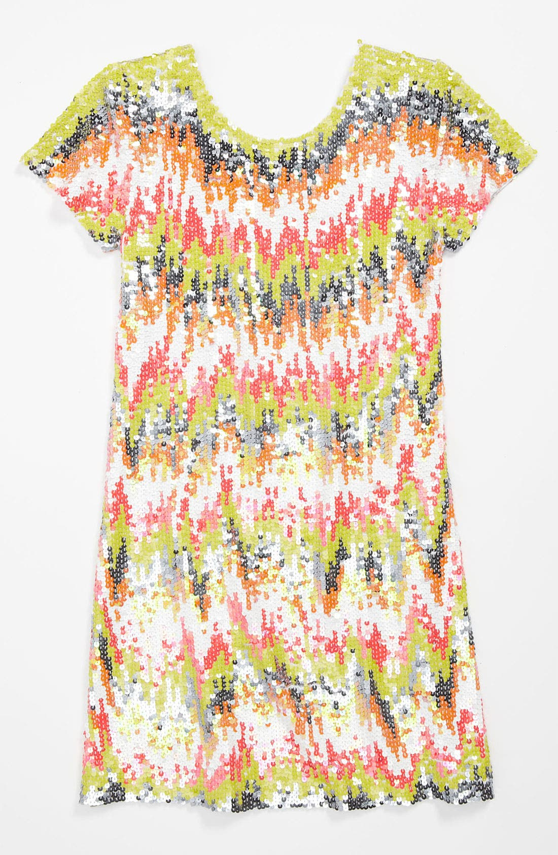 Alternate Image 1 Selected - Flowers by Zoe Sequin Dress (Big Girls)
