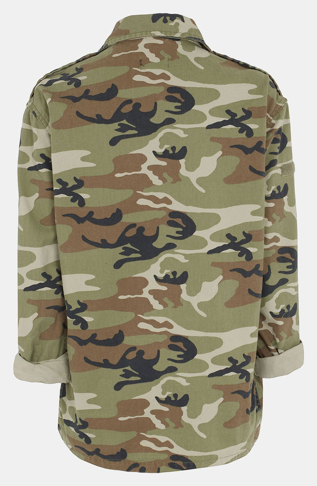 Alternate Image 2  - Topshop Camo Maternity Jacket