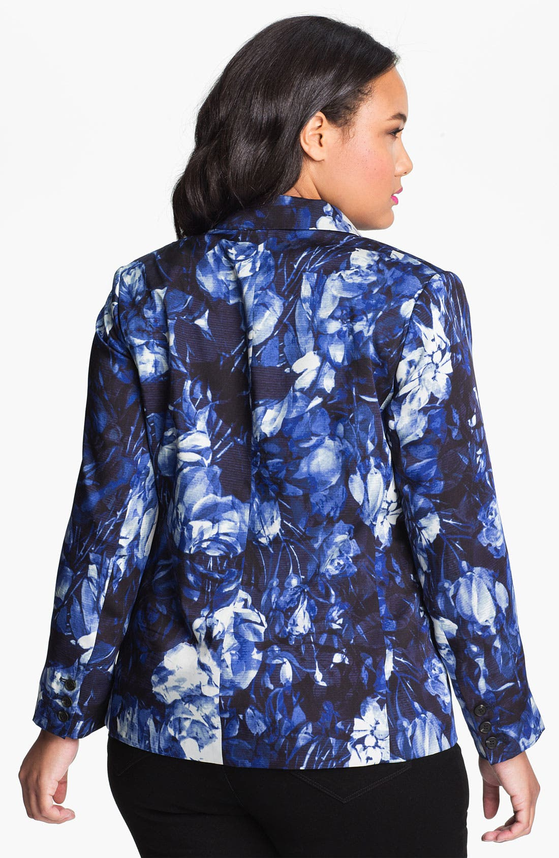 Alternate Image 2  - Vince Camuto Print Blazer (Plus)