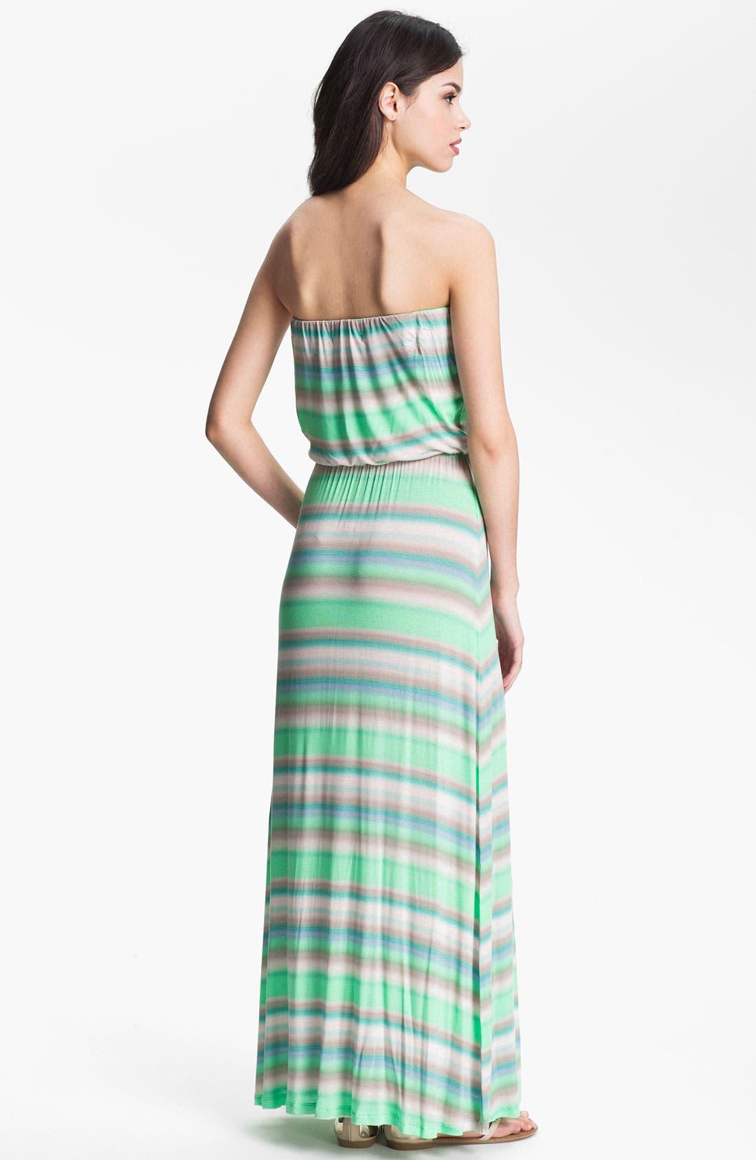 Alternate Image 2  - Velvet by Graham & Spencer Stripe Blouson Knit Tube Dress