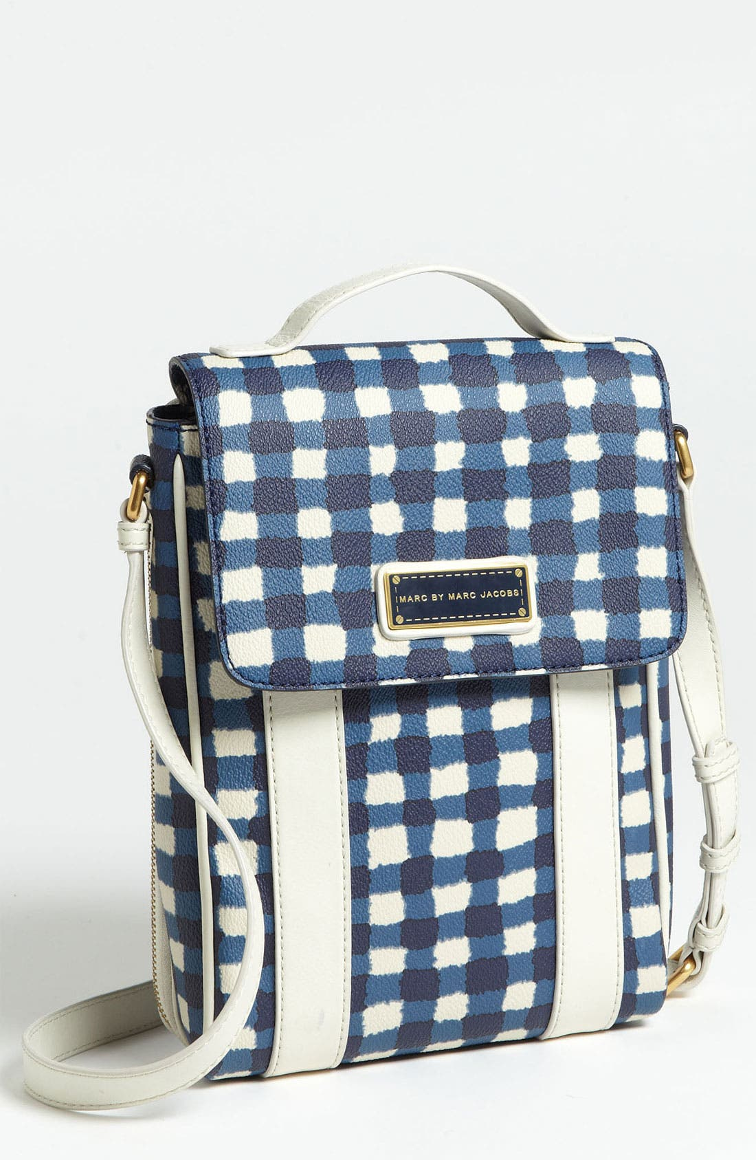 Main Image - MARC BY MARC JACOBS 'Marc'd & Check'd' Print Tablet Crossbody Bag