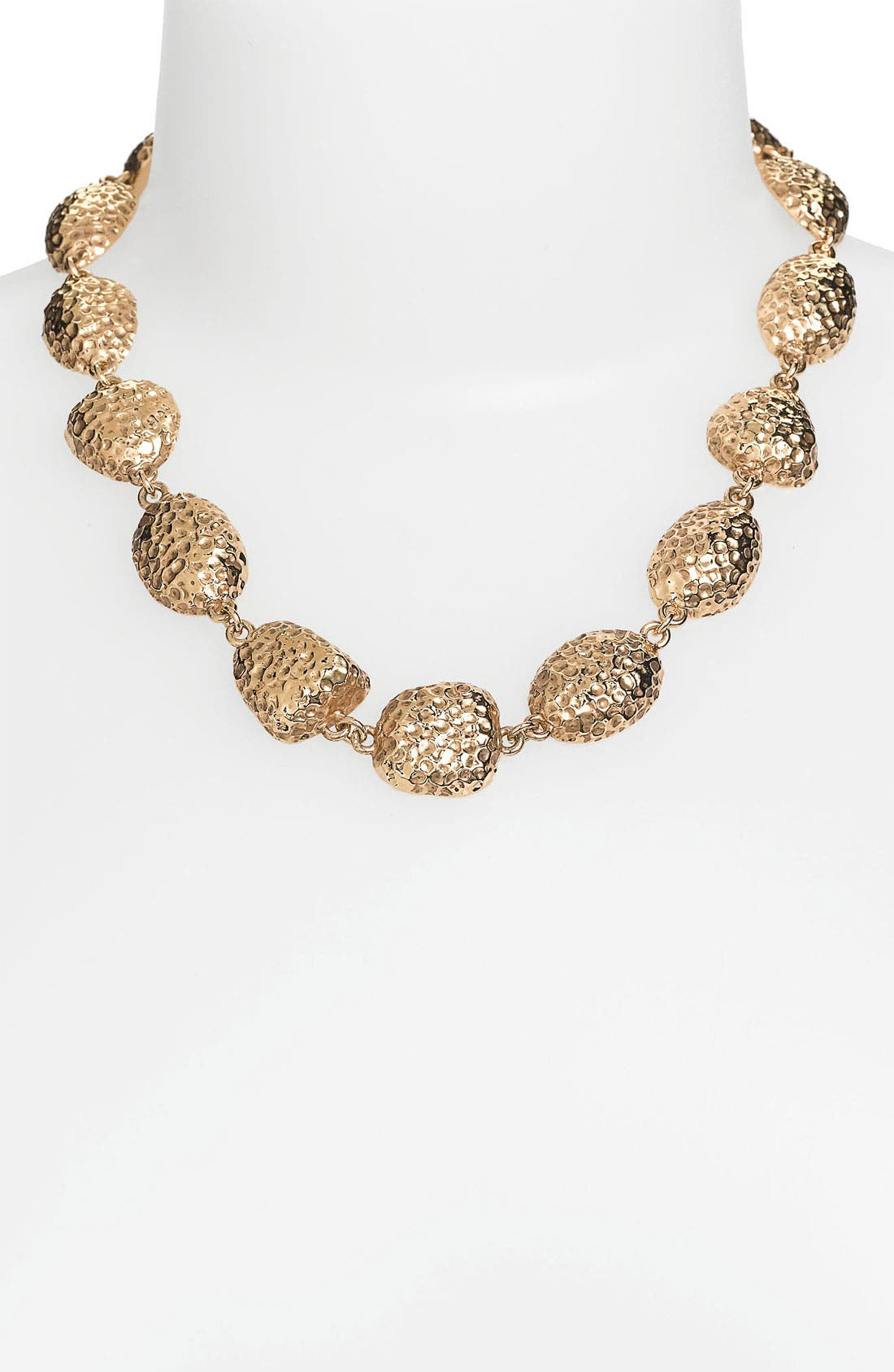 Alternate Image 1 Selected - St. John Collection Hammered Pebble Necklace