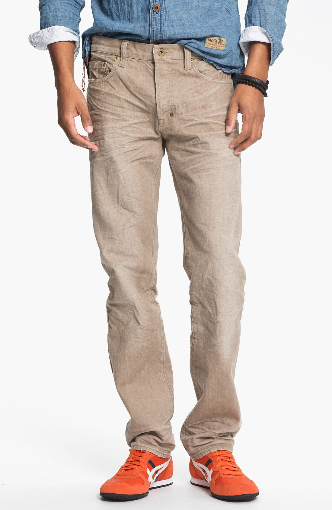 Alternate Image 2  - PRPS 'Vesta Rambler' Slim Fit Jeans (Beige)