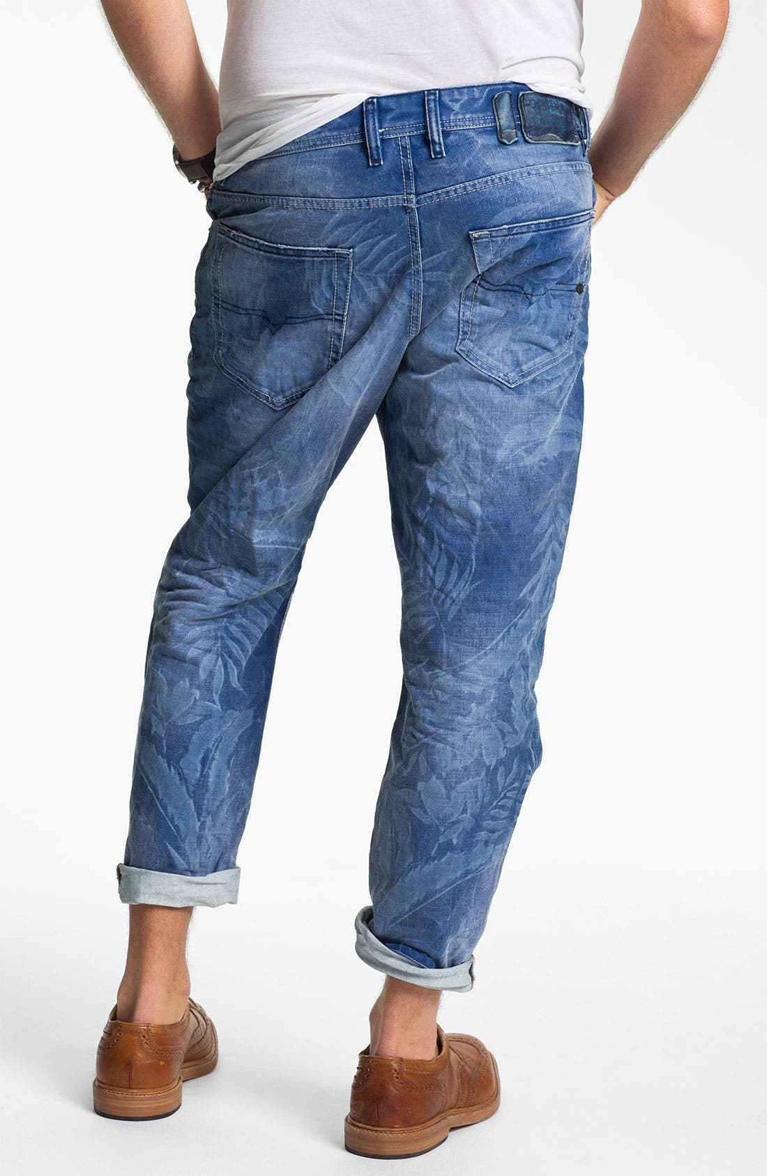 Alternate Image 2  - DIESEL® 'Narrot' Cropped Slouchy Tapered Leg Jeans (Palm Print)