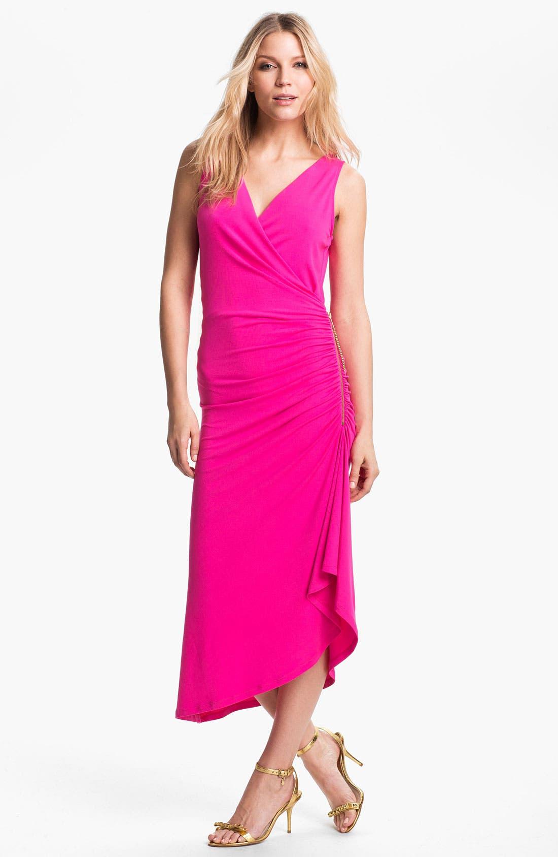 Alternate Image 1 Selected - MICHAEL Michael Kors Asymmetrical Matte Jersey Dress