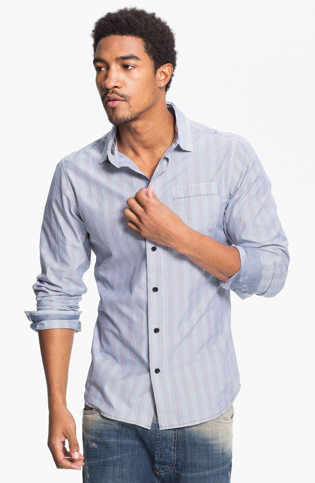 Alternate Image 1 Selected - Descendant of Thieves Multi Stripe Woven Shirt
