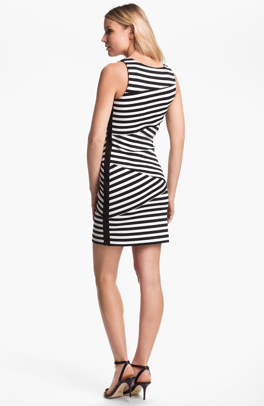 Alternate Image 2  - MICHAEL Michael Kors Banded Stripe Dress