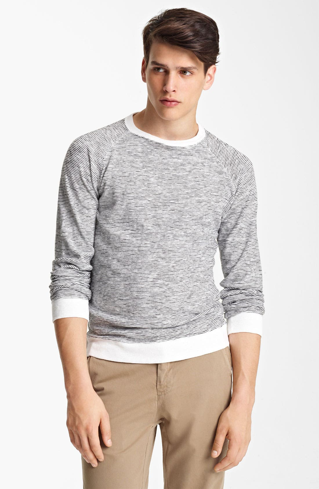 Main Image - Billy Reid Stripe Crewneck Sweatshirt