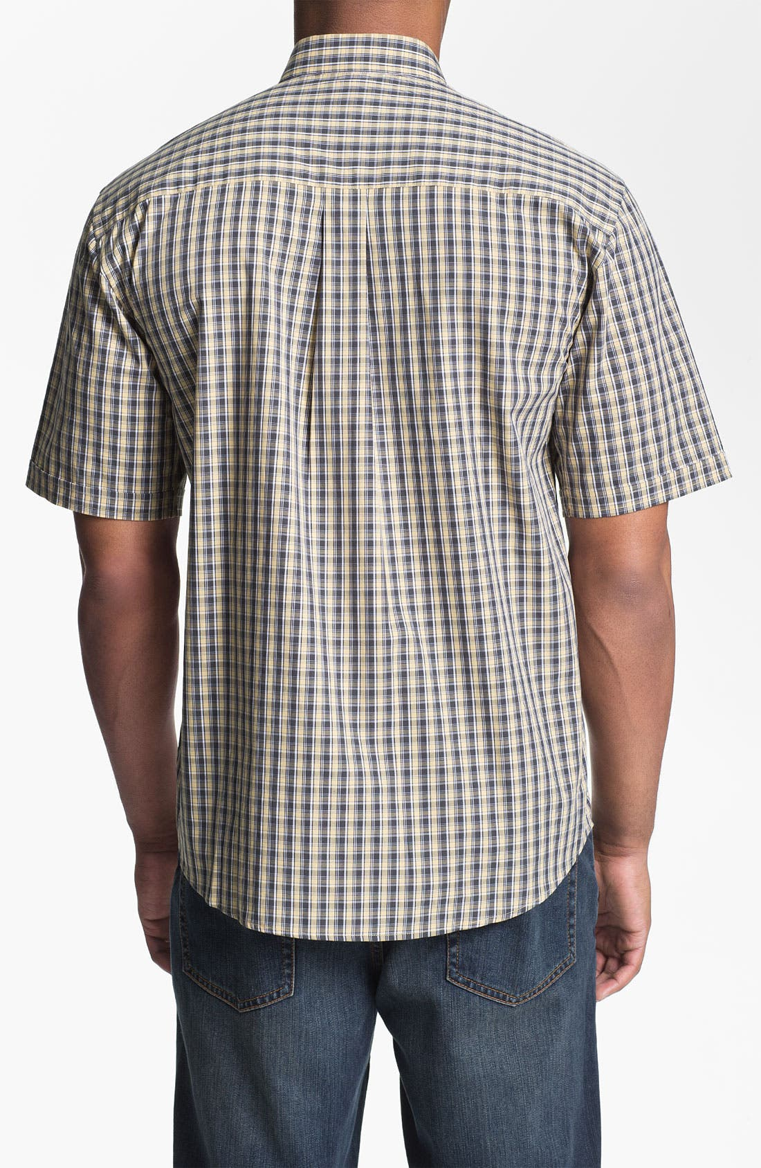 Alternate Image 2  - Cutter & Buck 'Midvale' Check Sport Shirt (Big & Tall)
