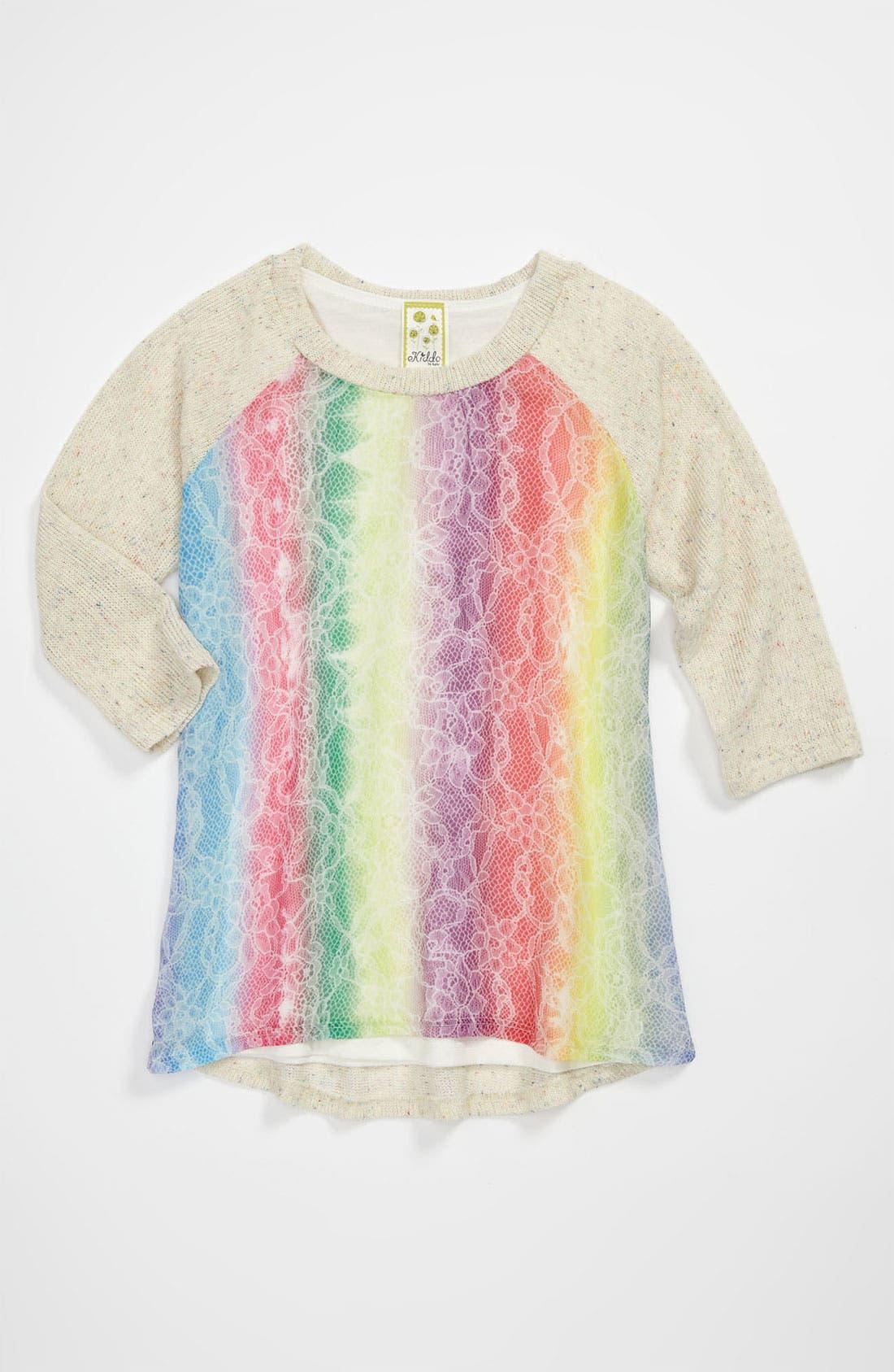 Alternate Image 1 Selected - Kiddo 'Rainbow Lace' Sweater (Big Girls)