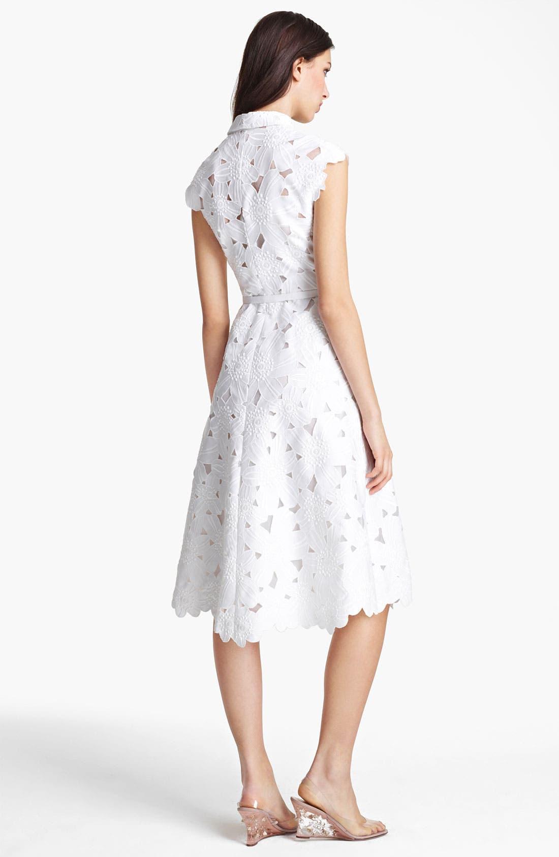 Alternate Image 2  - Valentino Floral Piqué Dress