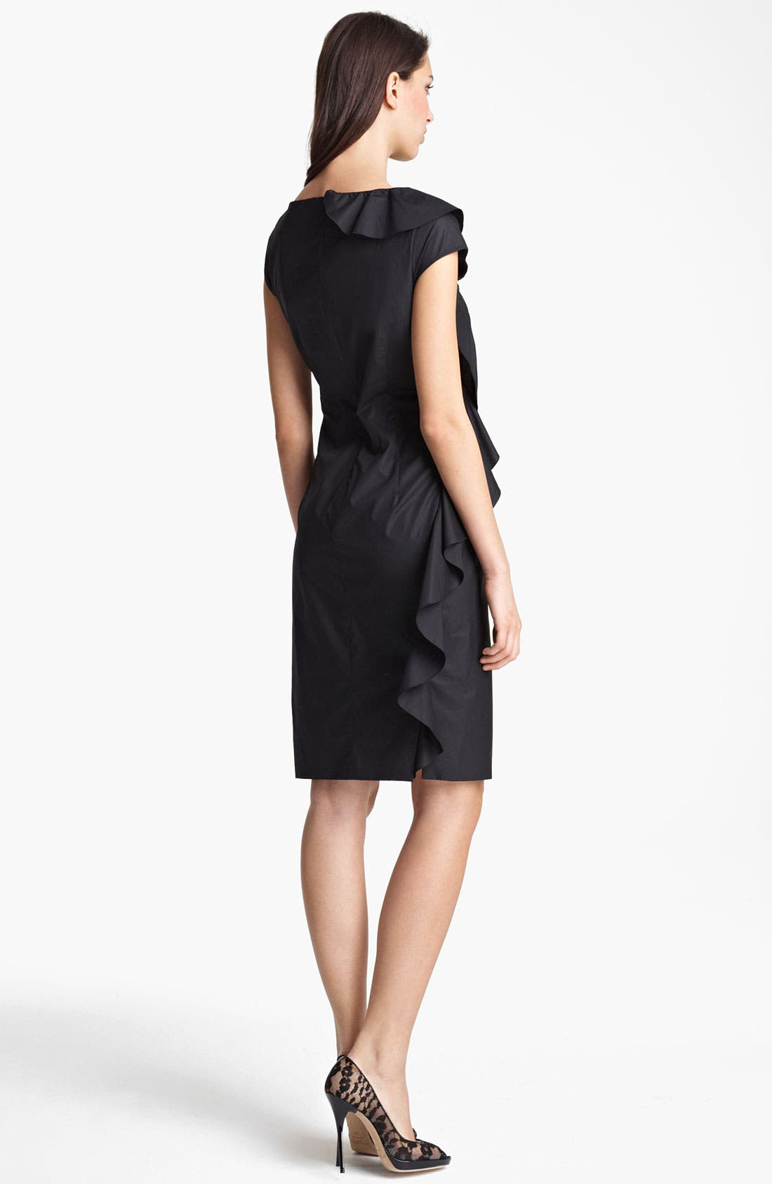 Alternate Image 2  - Max Mara 'Torre' Ruffled Poplin Dress