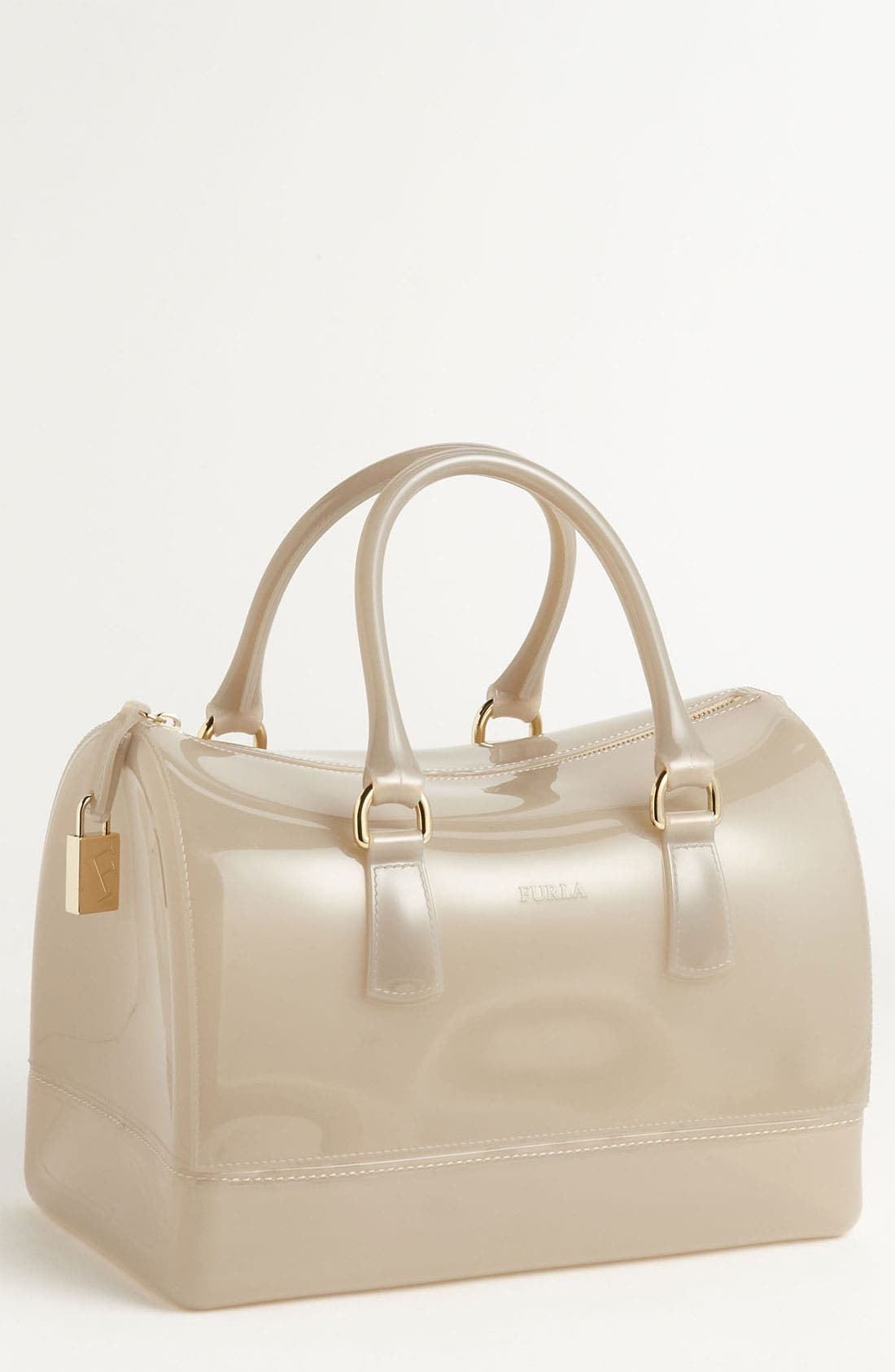 Alternate Image 1 Selected - Furla 'Candy' Transparent Rubber Satchel
