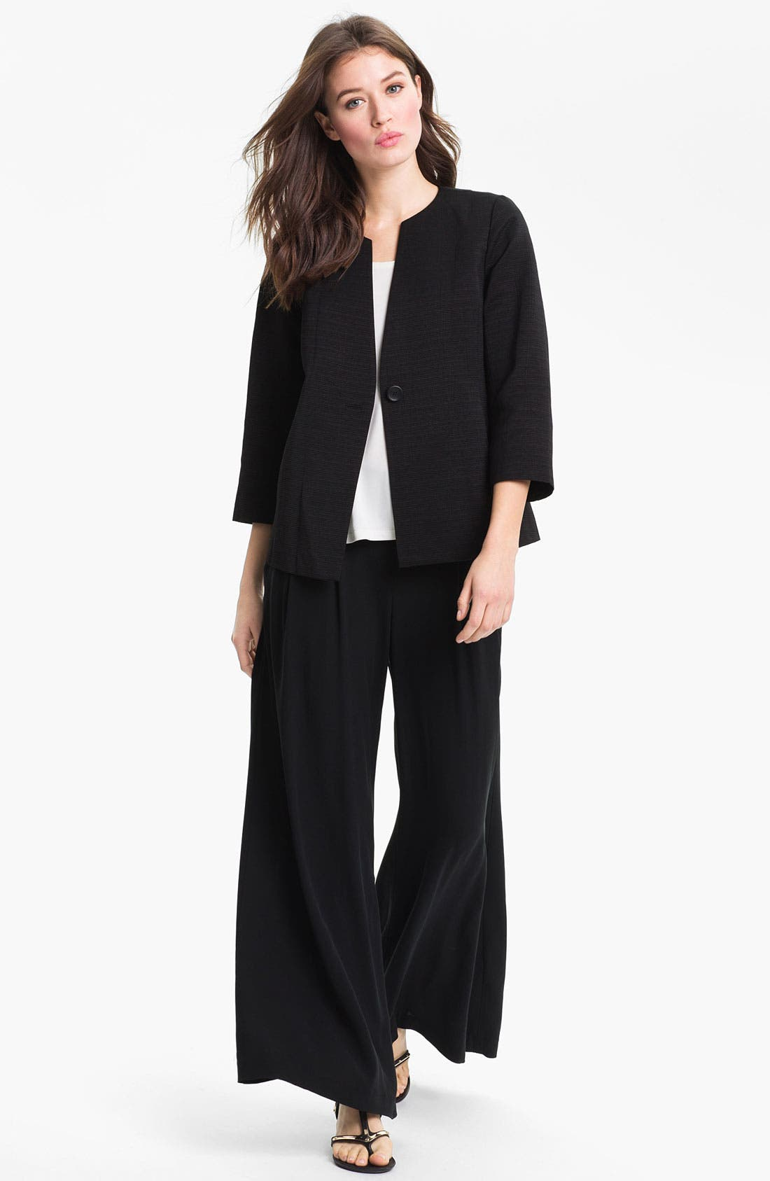 Alternate Image 2  - Eileen Fisher Three Quarter Sleeve Jacket