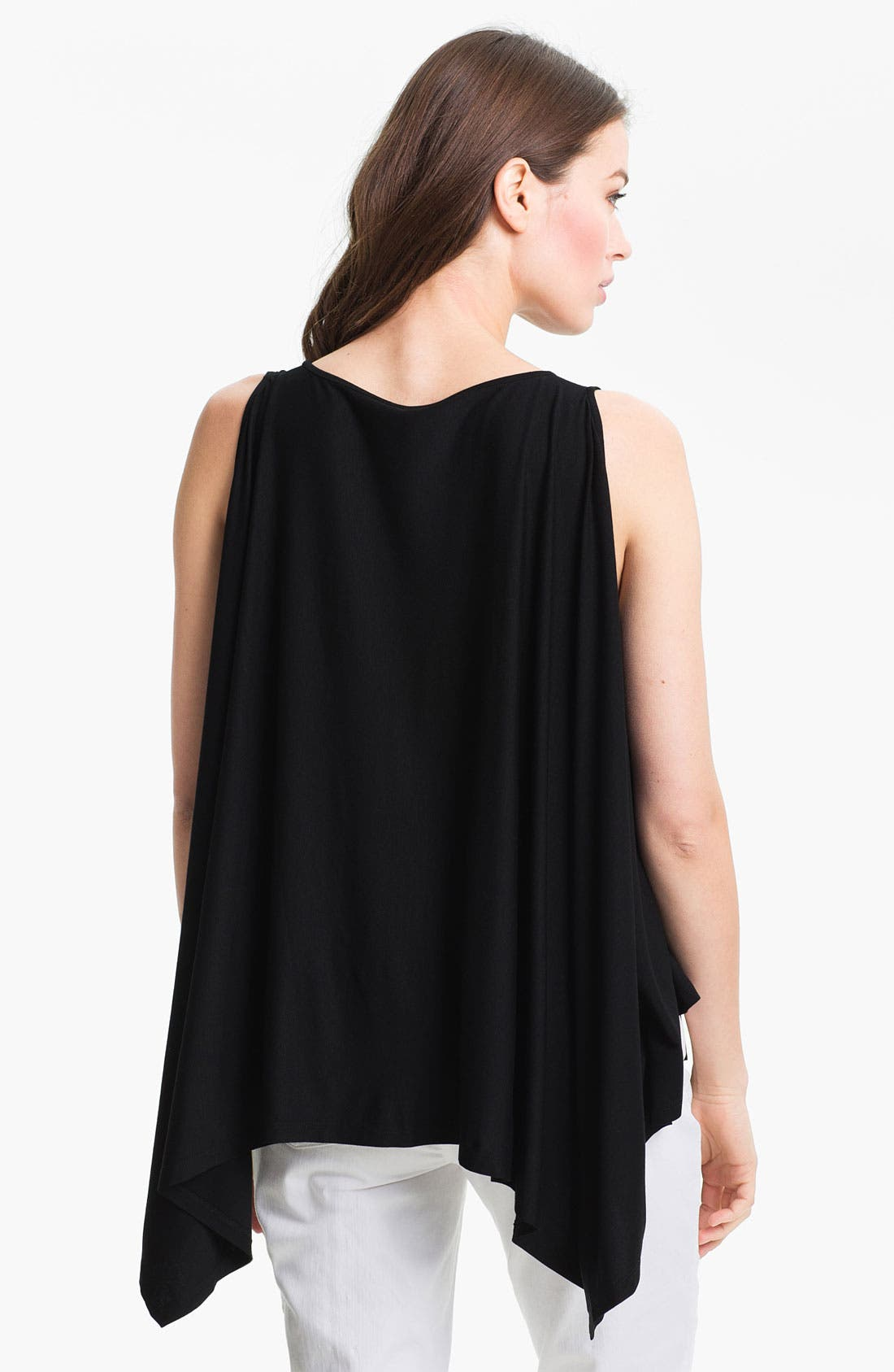 Alternate Image 2  - Eileen Fisher Ballet Neck Poncho Jersey Top
