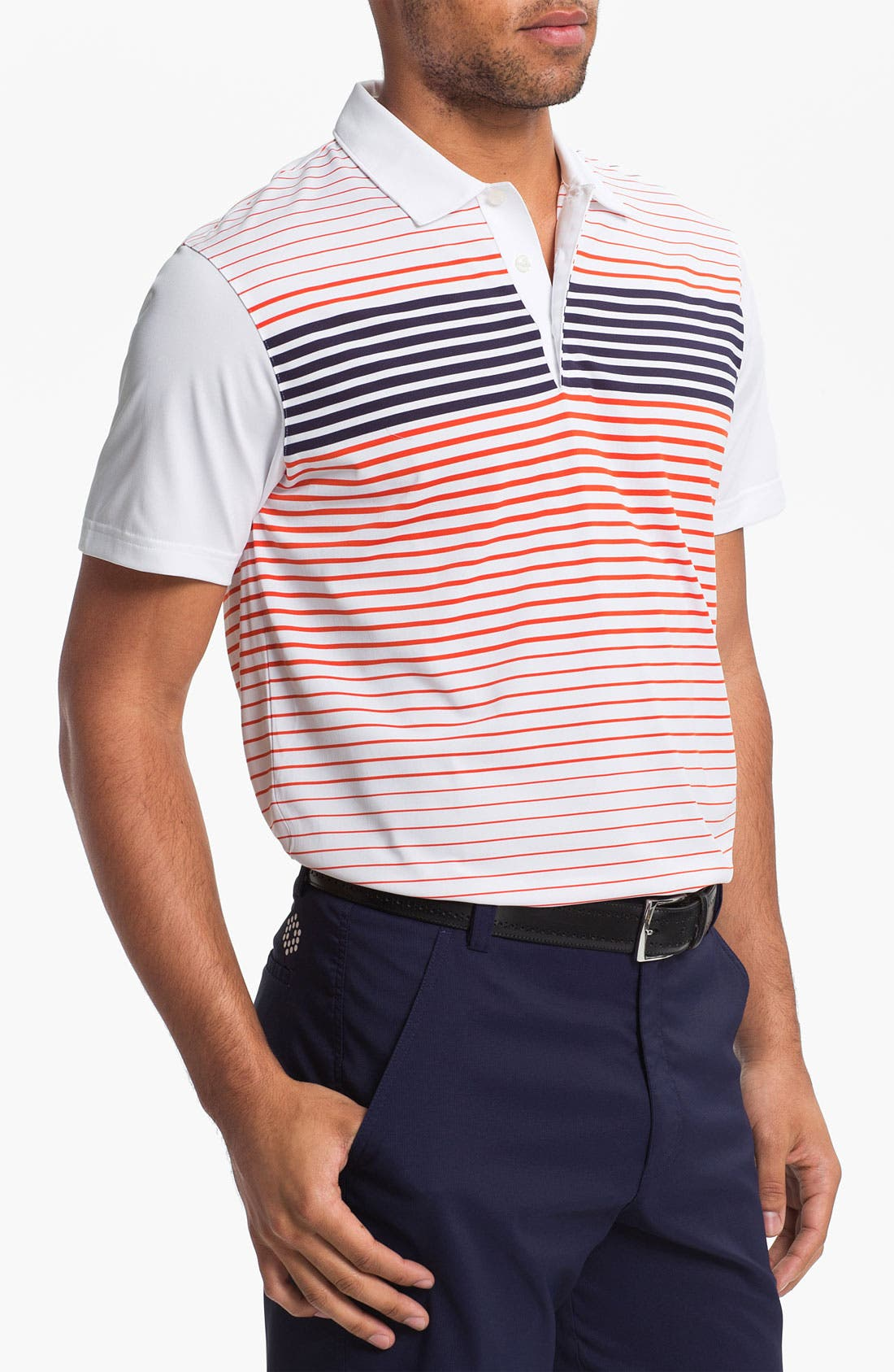 Alternate Image 1 Selected - PUMA GOLF 'Engineered Stripe' dryCELL™ Tech Polo