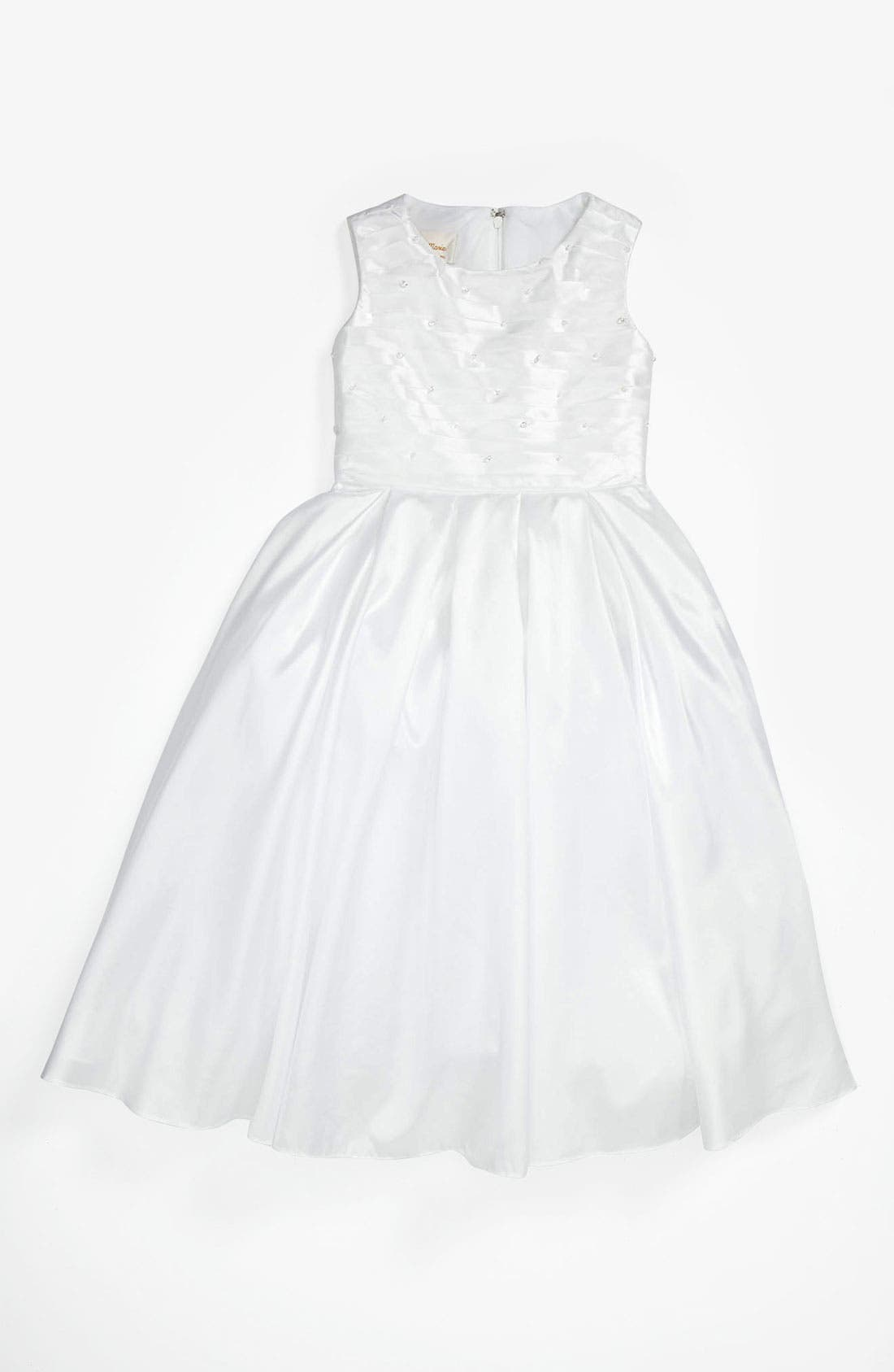 Alternate Image 1 Selected - Lauren Marie Pleated Bodice Dress (Little Girls & Big Girls)
