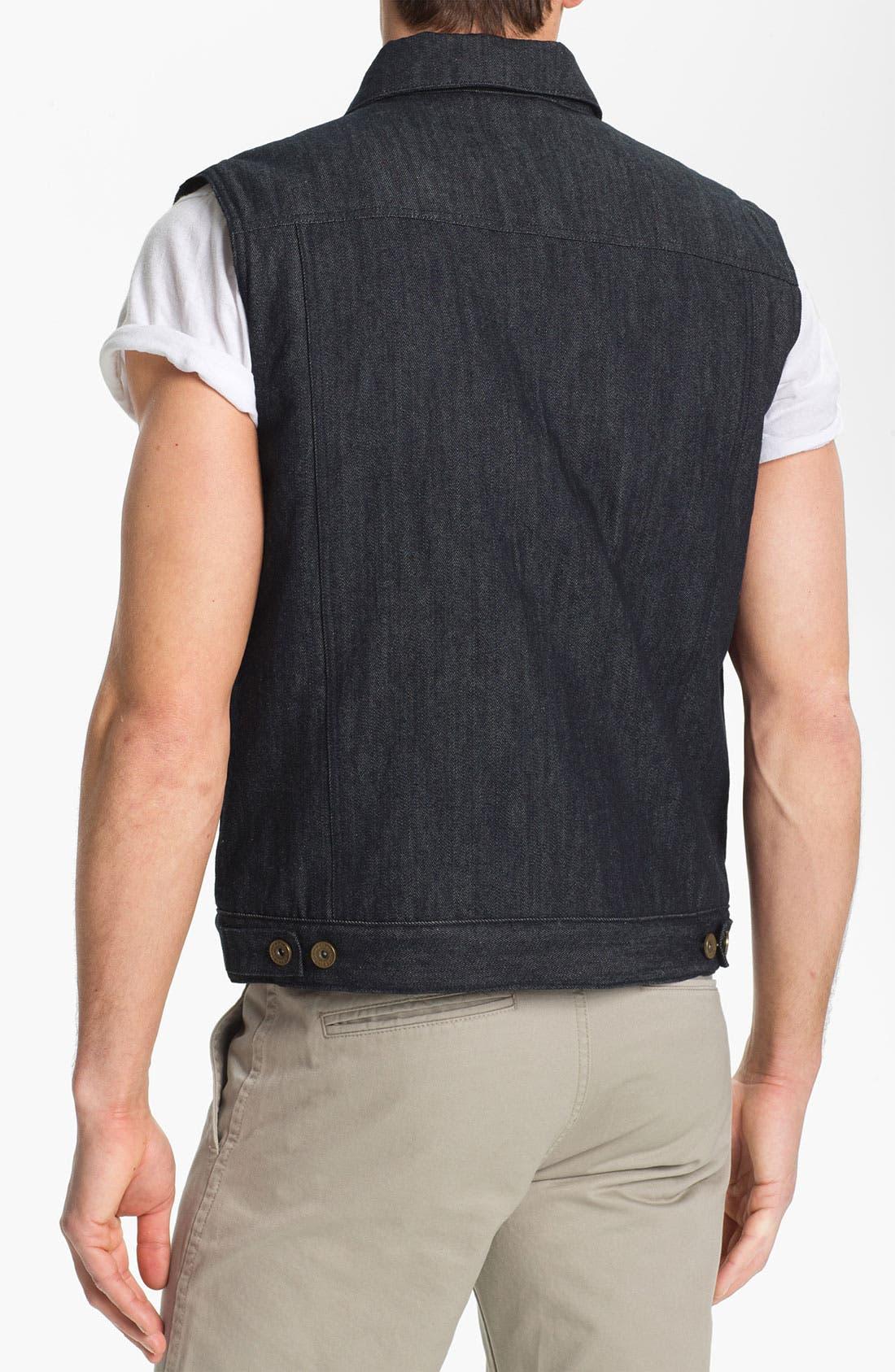 Alternate Image 2  - Brixton 'Coker' Raw Denim Vest