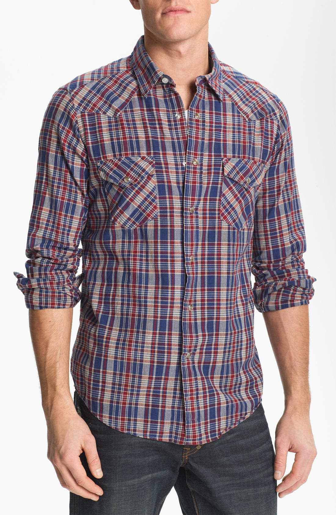 Main Image - Pendleton 'Epic' Madras Plaid Western Shirt
