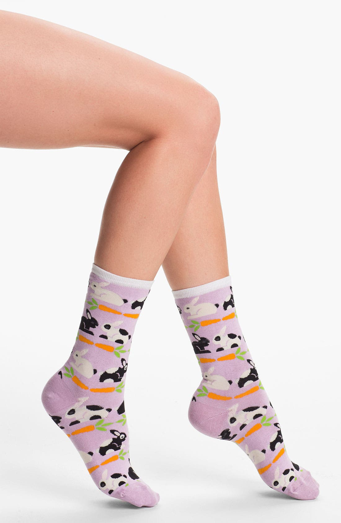 Alternate Image 1 Selected - Hot Sox 'Rabbits & Carrots' Socks