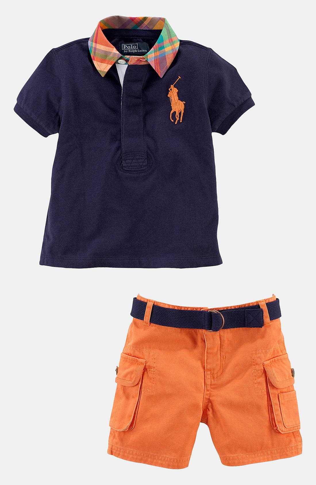Alternate Image 2  - Ralph Lauren Shirt & Shorts (Infant)