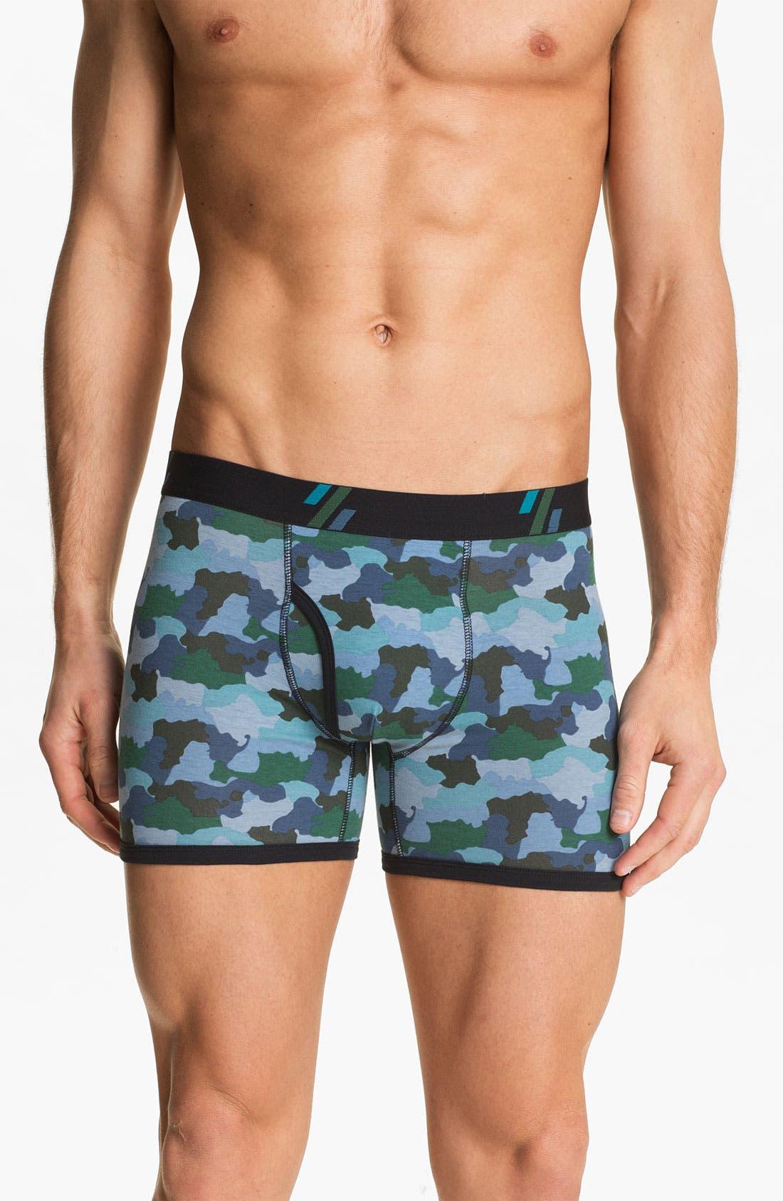 Main Image - Basic Underwear Boxer Briefs (3-Pack)