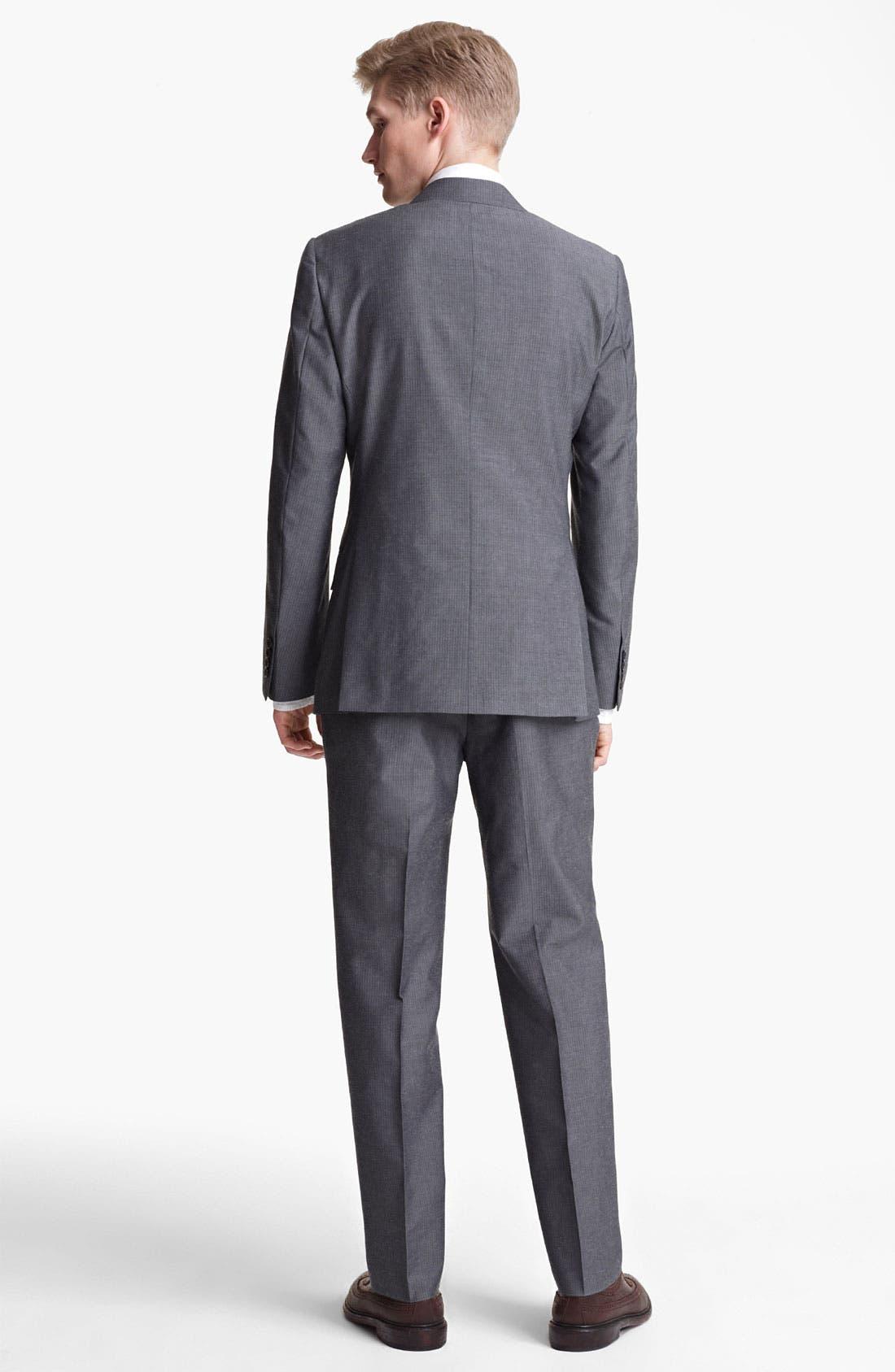 Alternate Image 3  - Billy Reid 'Campbell' Grey Stripe Suit