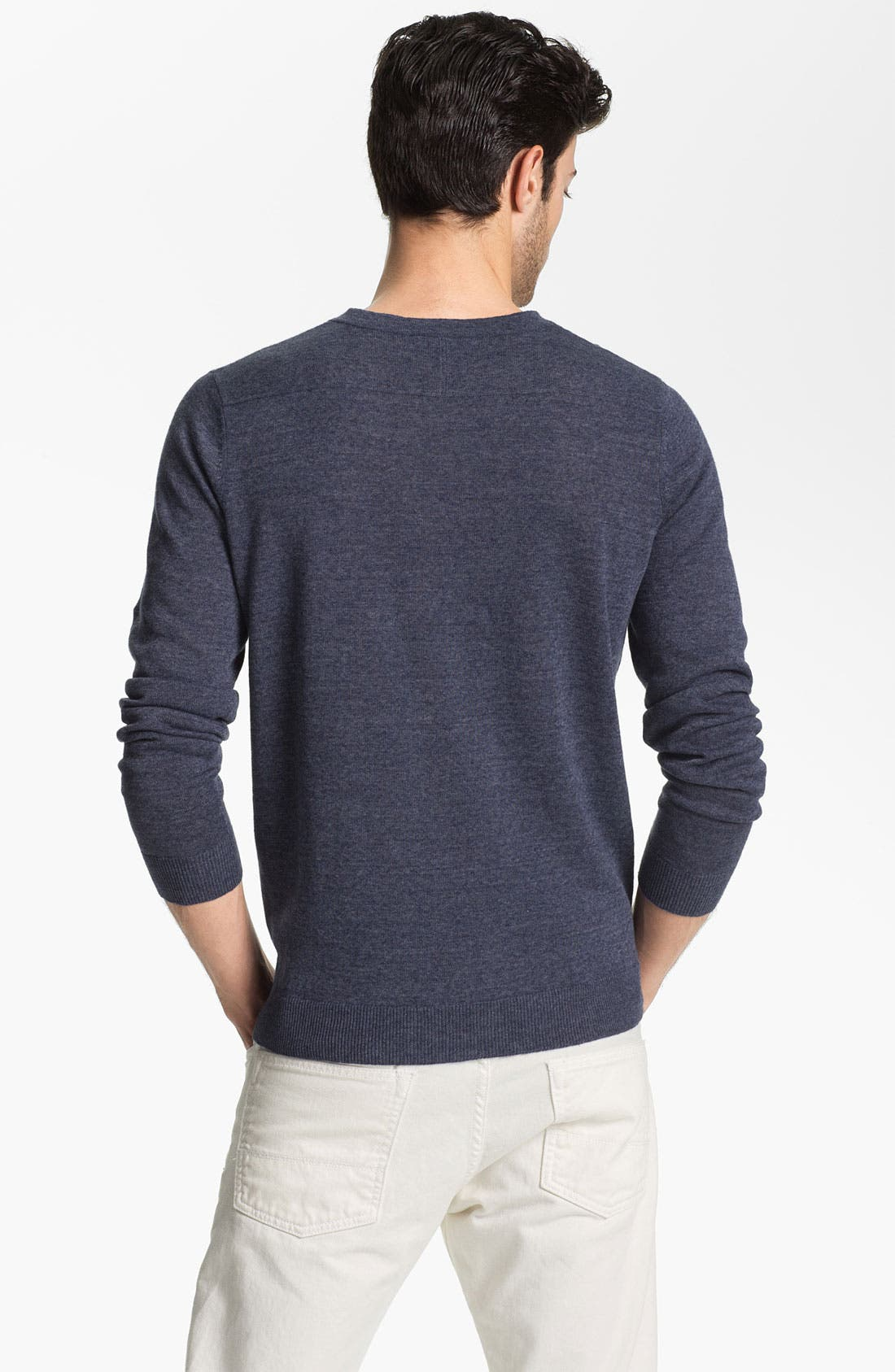 Alternate Image 2  - Vince Linen Blend Henley Sweater