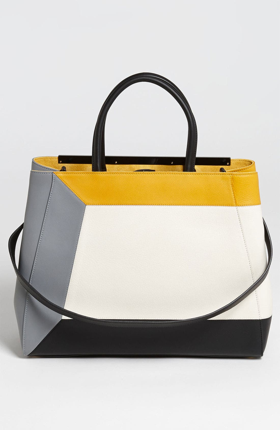 Alternate Image 4  - Fendi '2Jours 3D - Medium' Leather Shopper