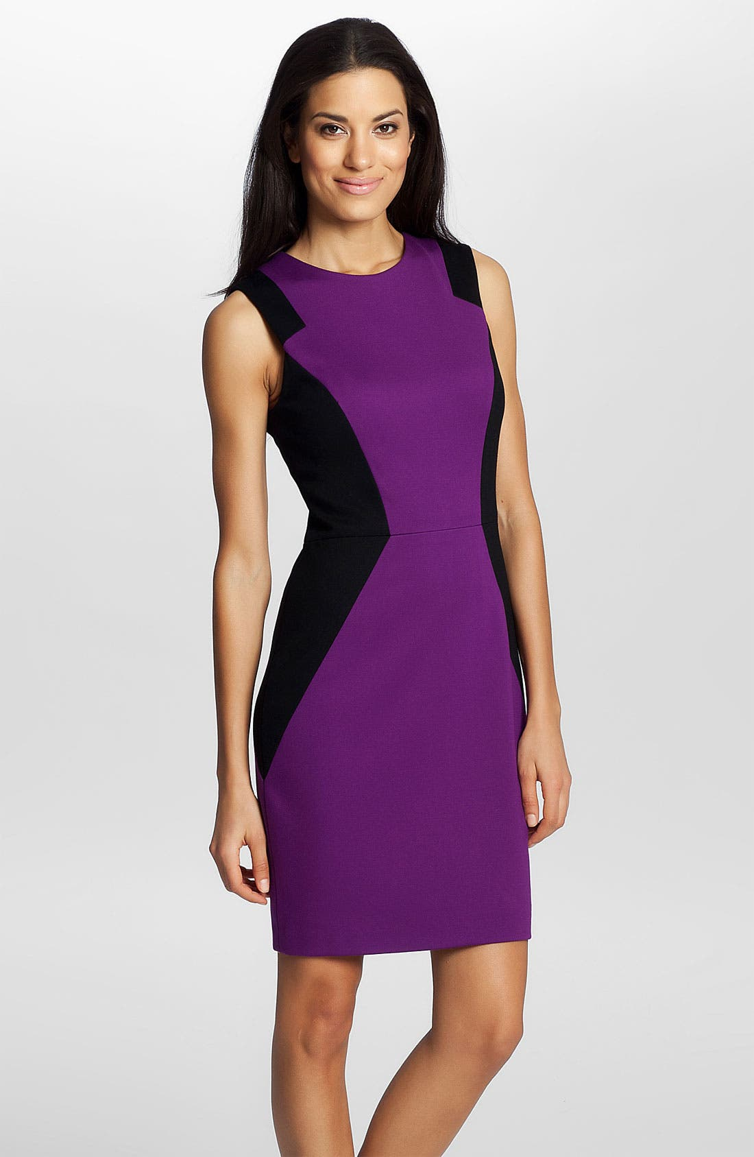 Main Image - Cynthia Steffe 'Aubrey' Colorblock Ponte Dress