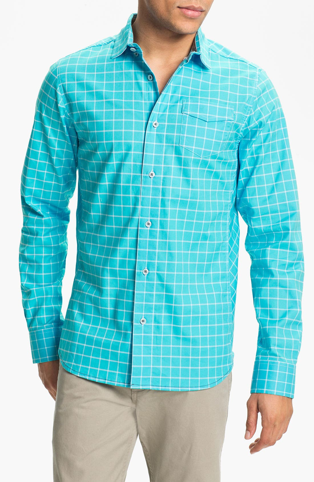 Alternate Image 1 Selected - Descendant of Thieves Windowpane Woven Shirt