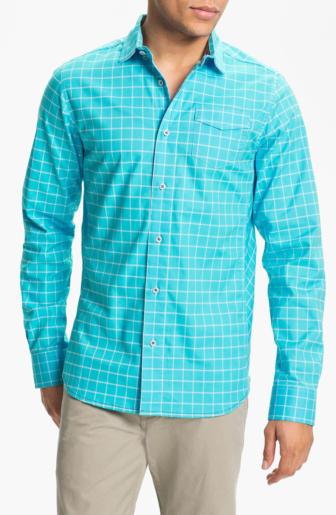 Main Image - Descendant of Thieves Windowpane Woven Shirt