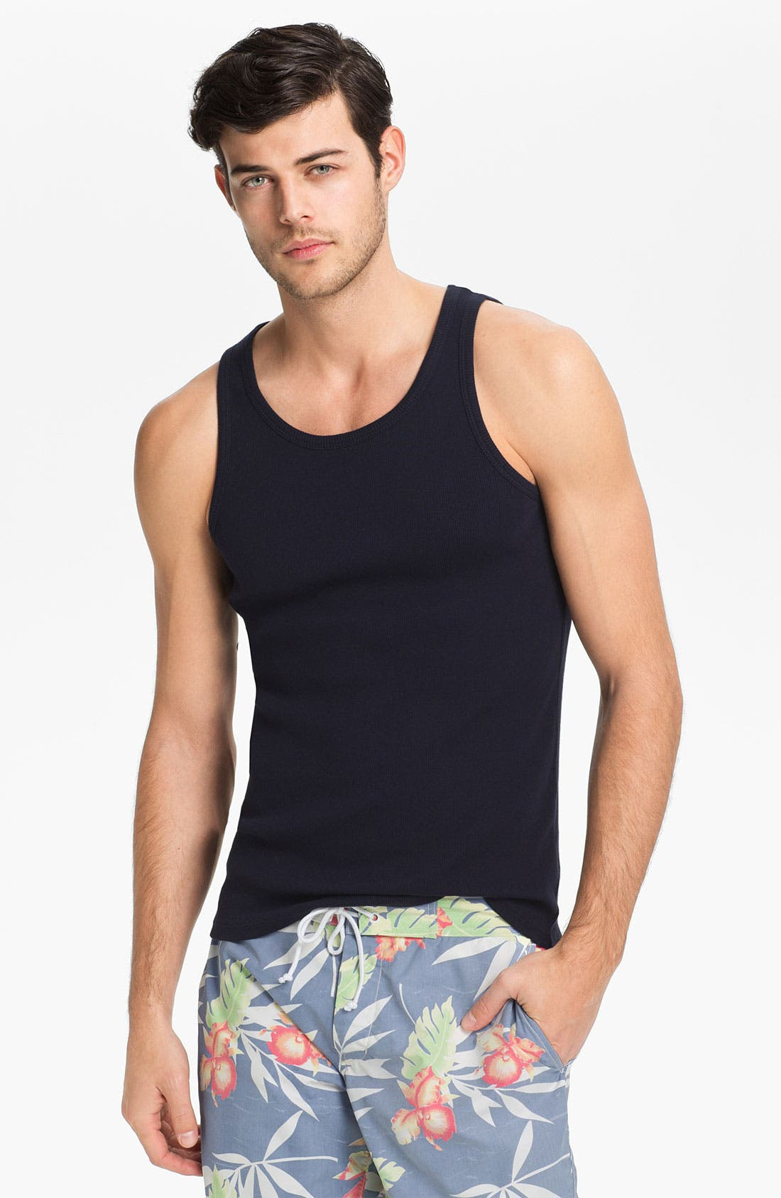 Alternate Image 1 Selected - Vince Ribbed Tank Top