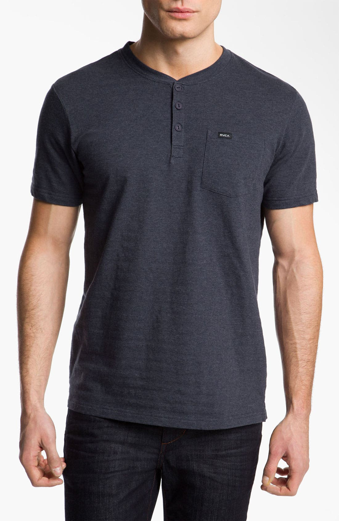 Alternate Image 1 Selected - RVCA 'Shopkeeper' Short Sleeve Henley T-Shirt