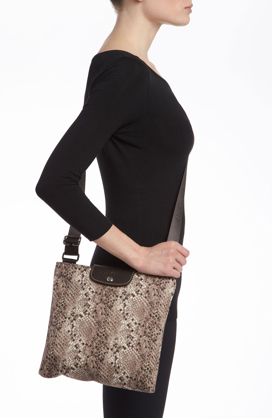 Alternate Image 2  - Longchamp 'Le Pliage' Python Print Crossbody Bag