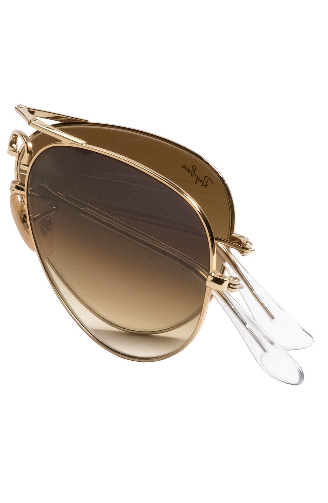 Alternate Image 2  - Ray-Ban 58mm Polarized Folding Aviator Sunglasses