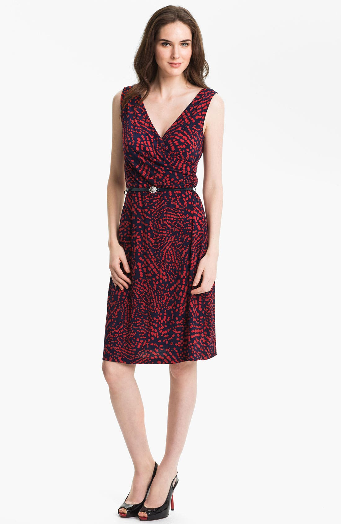 Main Image - Anne Klein Abstract Dot Print Dress