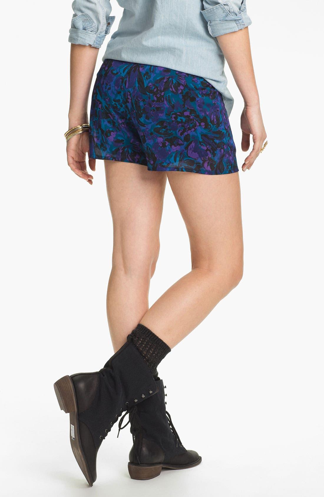 Alternate Image 3  - Mimi Chica Floral Print Shorts (Juniors)