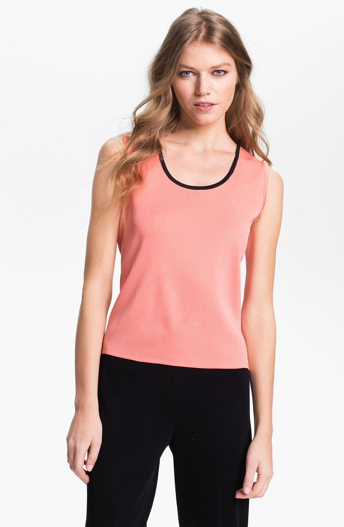 Alternate Image 1 Selected - Ming Wang Piped Scoop Neck Tank