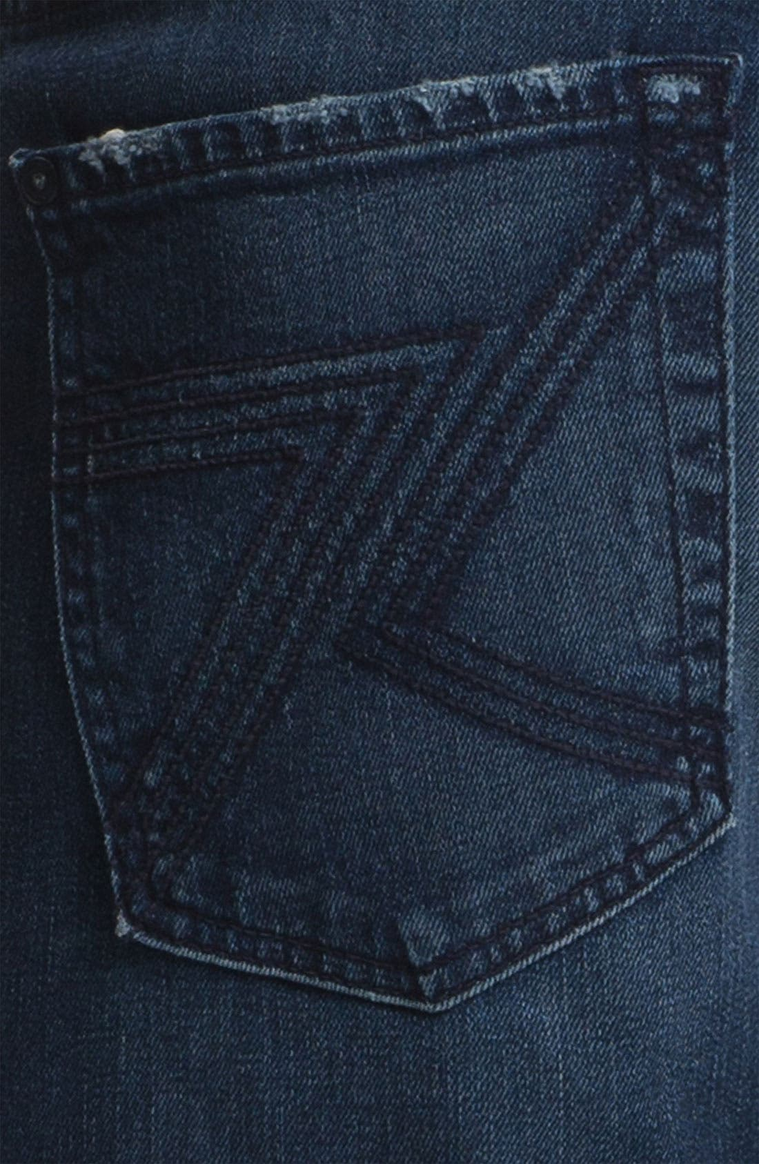 Alternate Image 4  - 7 For All Mankind® 'Austyn' Relaxed Straight Leg Jeans (Authentic Indigo)